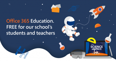 Office 365 Education. FREE for our school's students and teachers