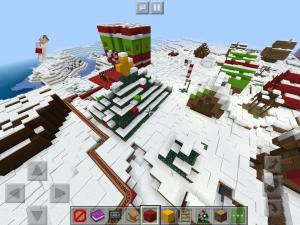 Minecraft snowy village