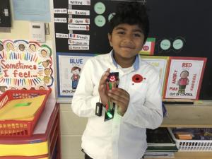 Child holding a gadget